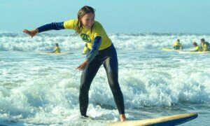 surfing lady